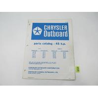 OB2498 Outboard Parts Catalog for Chrysler 45 HP 1978 450HK 459HG