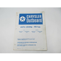 OB2499 Outboard Parts Catalog for Chrysler 65 HP 1978 659HB 659BB