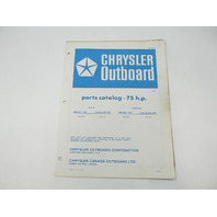 OB2500 Outboard Parts Catalog for Chrysler 75 HP 1978 757HD 757BD
