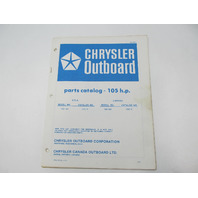 OB2501 Outboard Parts Catalog for Chrysler 105 HP 1978 1057HH 1057BH