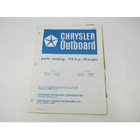 OB2663 Outboard Parts Catalog for Chrysler 115 HP Charger 1977 1159HA 1159BA