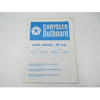 OB2699 Outboard Parts Catalog for Chrysler 85 HP 1978 857HF 857BF