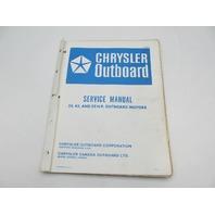 OB2803 Vintage Chrysler Outboard Service Manual 35-55 HP
