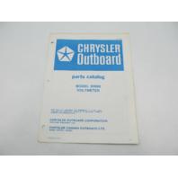 OB2849 Chrysler Outboard Parts Catalog for Voltmeter 5H006