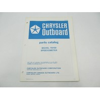 OB2850 Chrysler Outboard Parts Catalog for Speedometer 76H09