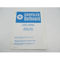 OB2852 Chrysler Outboard Parts Catalog for Speedometer 71H04