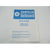 OB2854 Chrysler Outboard Parts Catalog for Speedometer 5H004