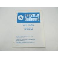 OB2856 Chrysler Outboard Parts Catalog for Tachometer 5H012