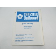 OB2857 Chrysler Outboard Parts Catalog for Voltmeter 74H01
