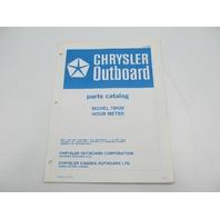 OB2858 Chrysler Outboard Parts Catalog for Hourmeter 75H28