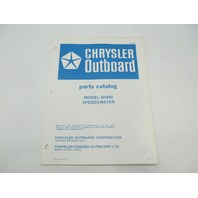 OB2860 Chrysler Outboard Parts Catalog for Speedometer 5H002