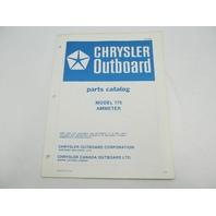 OB2881 Chrysler Outboard Parts Catalog for Ammeter 175