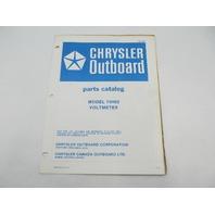 OB2883 Chrysler Outboard Parts Catalog for Voltmeter 74H02