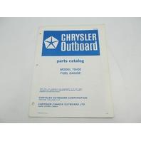 OB2886 Chrysler Outboard Parts Catalog for Fuel Gauge 75H20