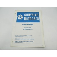 OB2893 Chrysler Outboard Parts Catalog for Speedometer 176