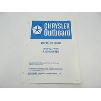 OB2894 Chrysler Outboard Parts Catalog for Tachometer 74H09