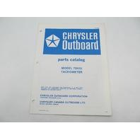 OB2896 Chrysler Outboard Parts Catalog for Tachometer 75H15