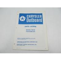 OB2897 Chrysler Outboard Parts Catalog for Tachometer 75H18
