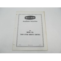 OB353 West Bend Installation Instructions for Twin Lever Remote Control 106