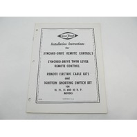 OB359 West Bend 18-40 HP Installation Instructions for Synchro-Drive Remote Control