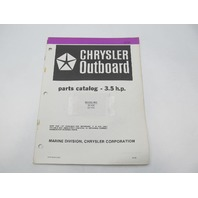 OB3837 Outboard Parts Catalog for Chrysler 3.5 HP 1983 32H3F 32R3G