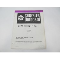 OB3838 Outboard Parts Catalog for Chrysler 4 HP 1983 42H3K 42B3K