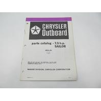 OB3839 Outboard Parts Catalog for Chrysler 7.5 HP Sailor 1983 71H3D 71B3D