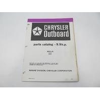 OB3842 Outboard Parts Catalog for Chrysler 9.9 HP 1983 92H3K 92B3K