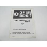 OB3927 Outboard Parts Catalog for Chrysler 7.5 HP Sailor 1984 71H4E 71C4E