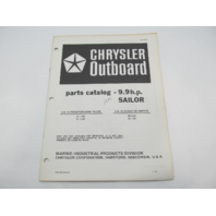 OB3929 Outboard Parts Catalog for Chrysler 9.9 HP Sailor 1984 91H4D 95H4K