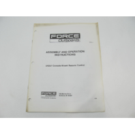 OB4614 4/90 Force Outboard 5H257 Remote Control Assembly & Operation Instructions