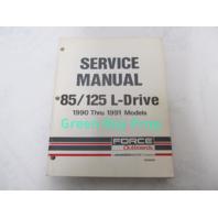 OB4644 1990-1991 Mercury Force Service Manual 85/125 L-Drive