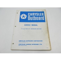 OB981 Vintage Chrysler Outboard Service Manual 75 & 105 HP 1966-67