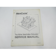 SIS-864 783 MerCarb Mercruiser Two Barrel Carburetor Service Repair Manual