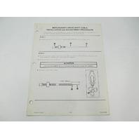 SIS-873 Mercruiser I-Drive Shift Cable Installation & Adjustment Procedure Manual