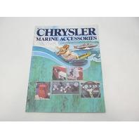 SL102 Vintage Chrysler Marine Accessories Parts Catalog 1981