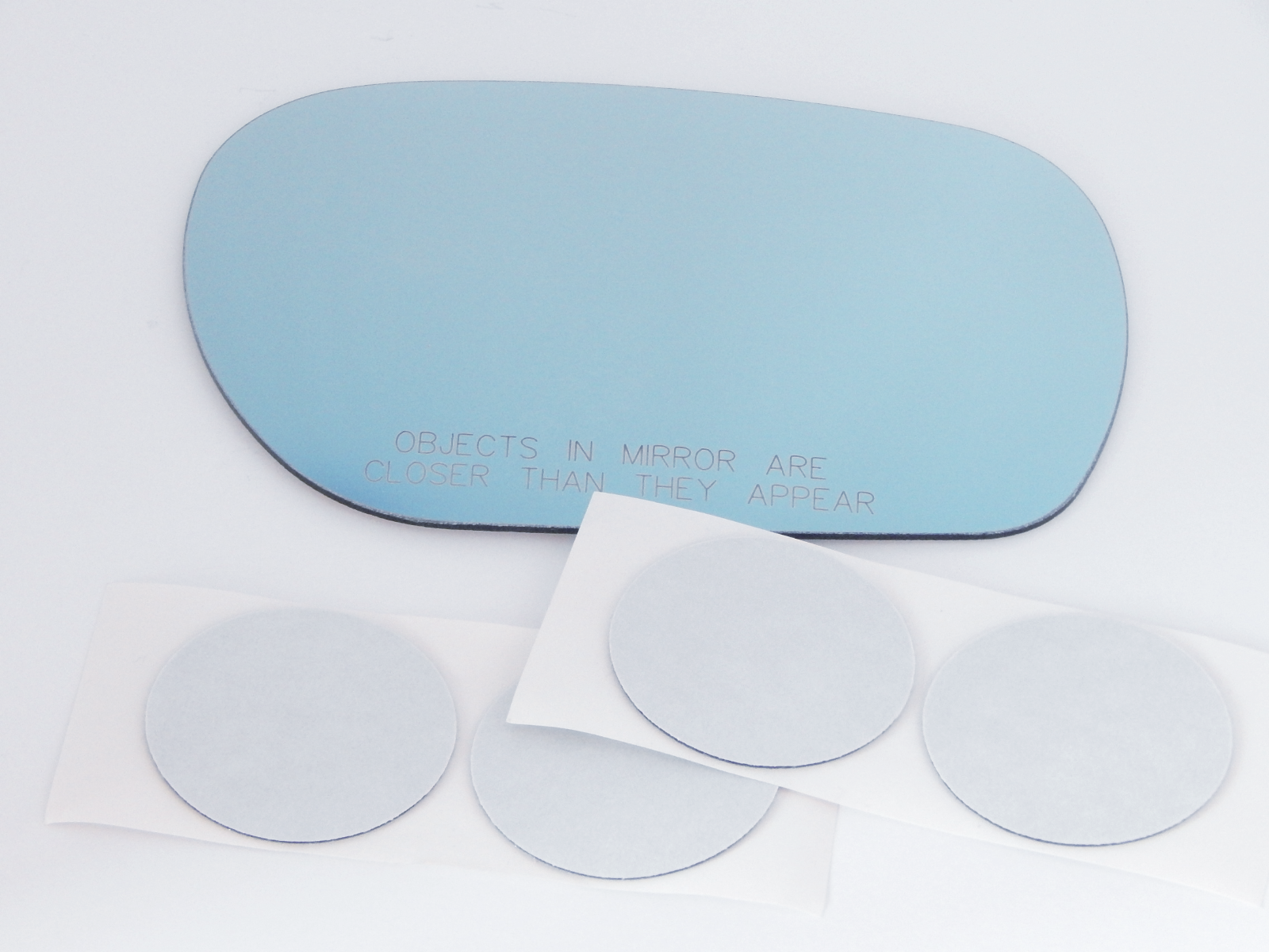 Fits 03-04 Inf M45 02-06 Q45 Right Pass Blue Convex Mirror Glass Lens w/Adhesive