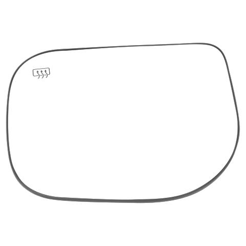 For 04-19 Titan 05-15 Armada 04-08 Inf QX56 Left Dr Mirror Glass w/Holder Heat
