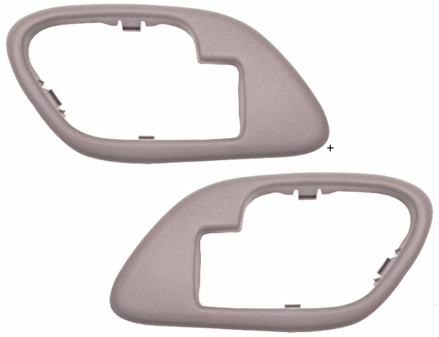 Chevy GMC Trucks SUV Interior Door Handle Bezel TAN Left & Right w/ Manual Locks