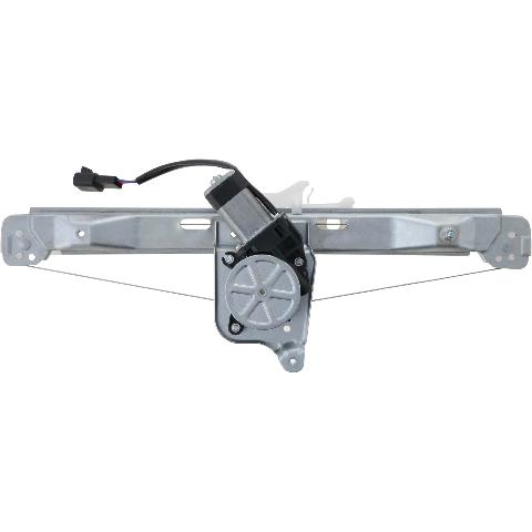 For 08-12 Malibu 07-10 Aura Rear Driver Window Regulator With Motor