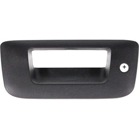 VAM Fits 07-13 Silverado, Sierra Rear Tailgate Bezel w/Keyhole Textured Black
