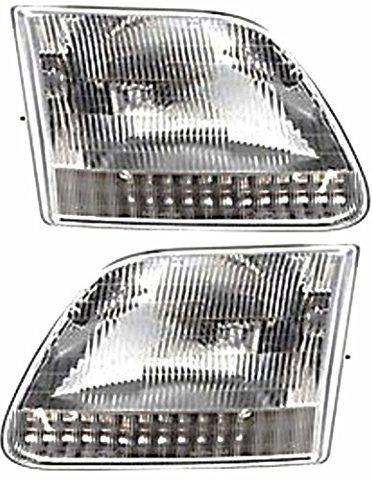 BAP Fits 97-99 F250 Light Duty; 97-02 Expedition Left & Right Headlamp Assm-Set