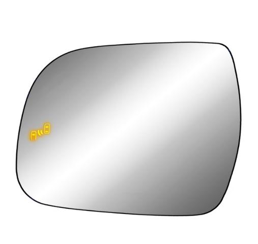 Fits 13-20 Sienna Left Driver Mirror Glass w/Holder Heat w/Blind Spot Detection