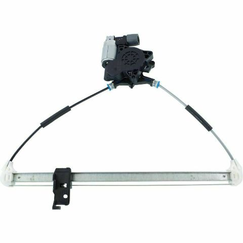 Fits 04-09 Mazda 3 Left Driver Rear Power Window Regulator With Motor 2 Pin Connector