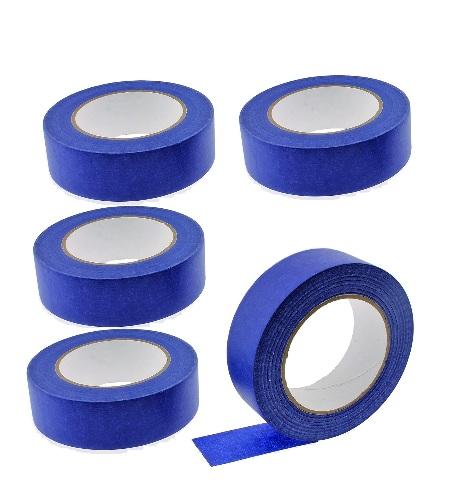 "5 Rolls No Residue Blue Masking Tape 1.5"" x 60 yds (36mm x 180')"