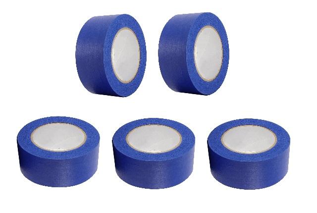 "5 Rolls No Residue Blue Masking Tape 2"" x 60 yds (48mm x 180')"