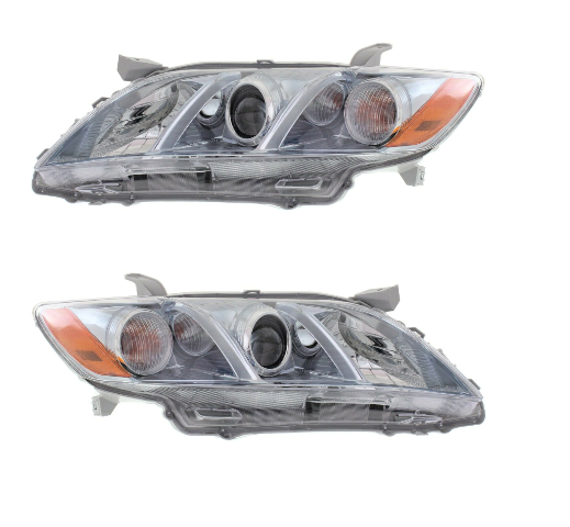 Fits 07-09 Camry Hybrid Driver and Passenger Headlight Assembly USA Built Models Only