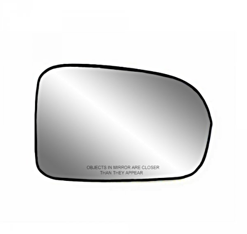 Fits 01-05 Civic Coupe, Sedan Right Pass Convex Mirror Glass w/ Holder