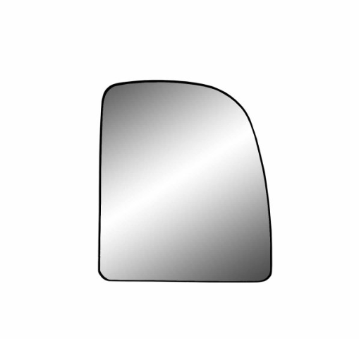 Fits 02-13 Fd Van, 99-07 Super Duty Right Pass Mirror Glass Upper Lens w/ Back Plate