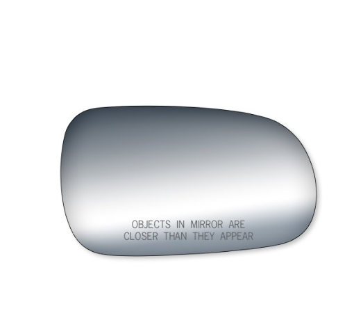 Right Passenger Mirror Glass Lens w/Adhesive for Various Honda, Acura Models